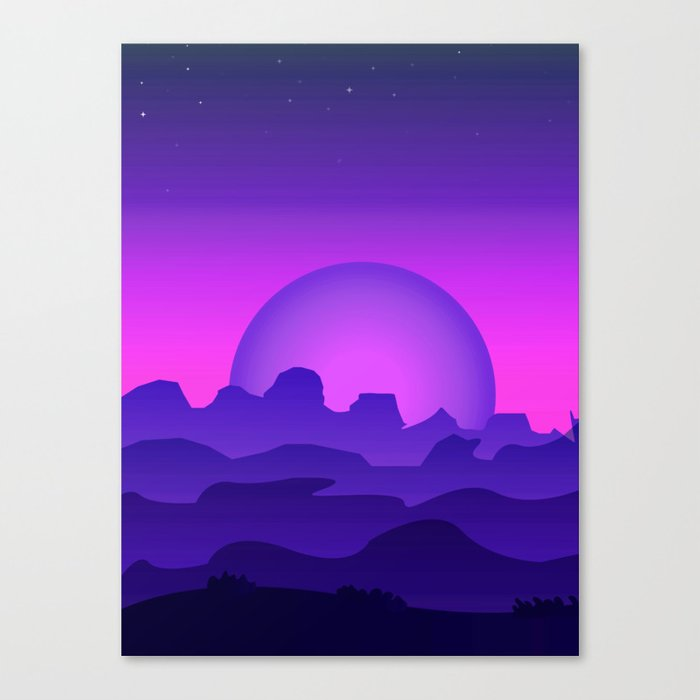 Night Landscape Canvas Print
