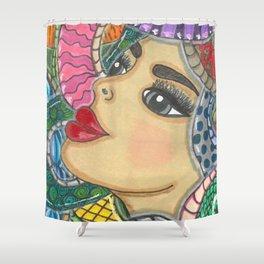 Colorful Medusa Shower Curtain