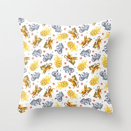 Baby Big Cats Pattern Throw Pillow