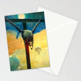 Untitled (On the Cross) by Zdzisław Beksiński Stationery Cards