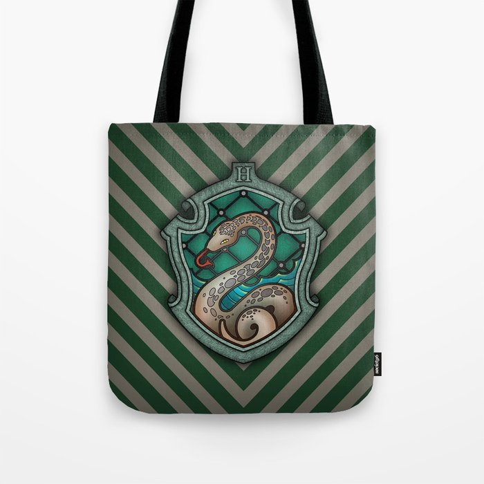 280c55ac61 Hogwarts House Crest - Slytherin Tote Bag by teohoble