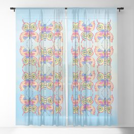 Sunflower Butterfly Sheer Curtain