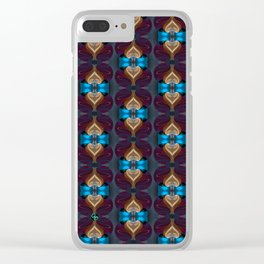 Royal Blue 1 Clear iPhone Case