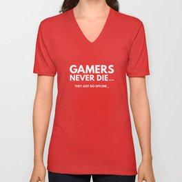 Gamers Never Die Unisex V-Neck
