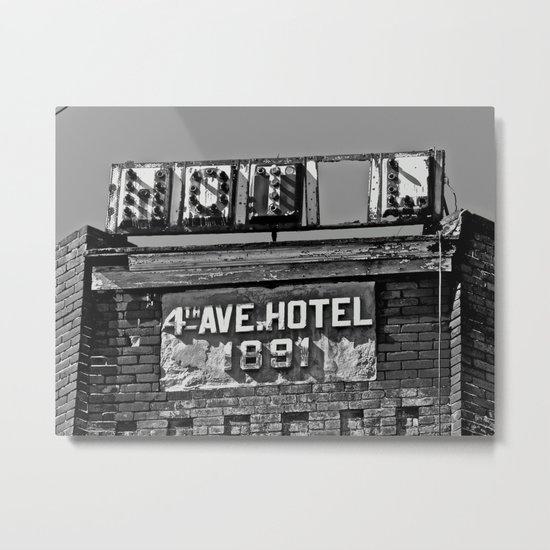 4th Avenue Hotel Metal Print