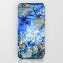 Solo Concerto in Blue iPhone Case