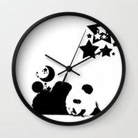 sleep Wall Clocks featuring Sleep by Panda Cool