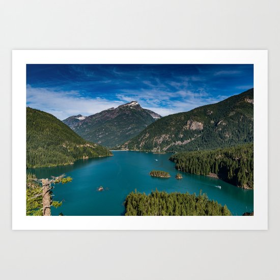 Lake Diablo Art Print