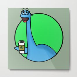 Philip Nester The Hipster Lochness Monster Metal Print