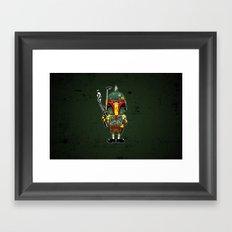 SpongeBoba Fett - Star Wars Spongebob mashup Framed Art Print