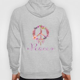 Peace Symbol Flower Power 70s Art Hoody
