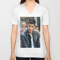 zayn malik V-neck T-shirts featuring Zayn Malik by behindthenoise