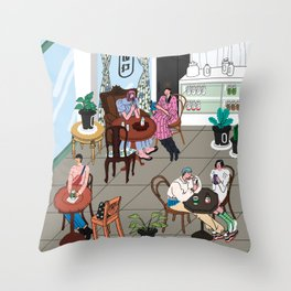 Cafe in Seoul. #3 Throw Pillow