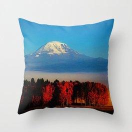 Cascade Mountains Autumn Foliage Landscape by Jeanpaul Ferro Throw Pillow