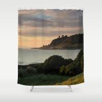 australia Shower Curtains featuring Tasmania - Australia by Chris' Landscape Images & Designs