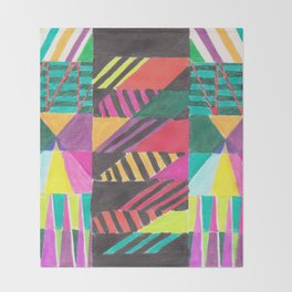 African Flyleaf Throw Blanket