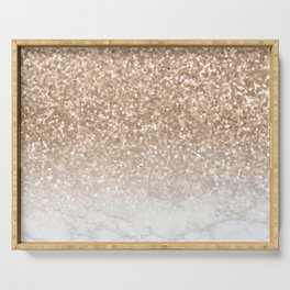 Sparkle - Gold Glitter and Marble Serving Tray
