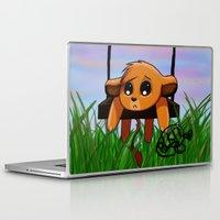 simba Laptop & iPad Skins featuring Chibi Simba by LK17
