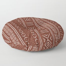 rust mud cloth Floor Pillow