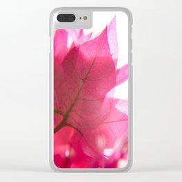 Bright Bougainvillea Clear iPhone Case