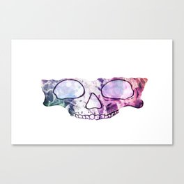 TechnoColor Skully Canvas Print