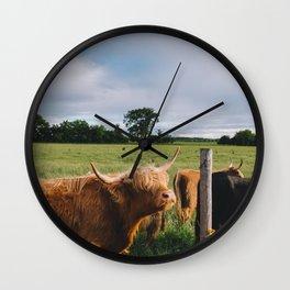 Highland Cows III Wall Clock