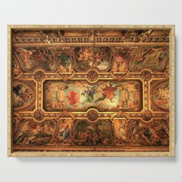 Midnight with Botticelli, Raphael, Michelangelo, & Perugino, Sistine Chapel, Rome Serving Tray