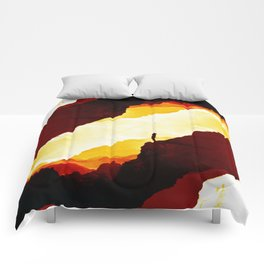 Red Isolation Comforters