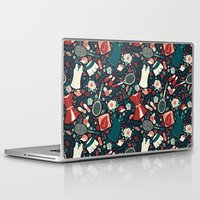 tennis Laptop & iPad Skins featuring Tennis Style by Anna Deegan