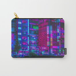 Retro Game VHS Cyberpunk City Carry-All Pouch