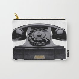 Old black telephone, middle of 20th century, aged and scuffed Carry-All Pouch