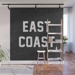 East Coast - black Wall Mural