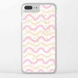 Pastel waves Clear iPhone Case