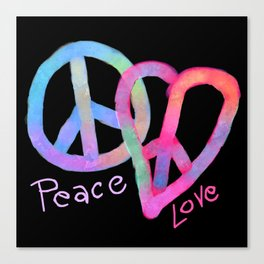 Peace and Love Abstract Digital Painting Canvas Print
