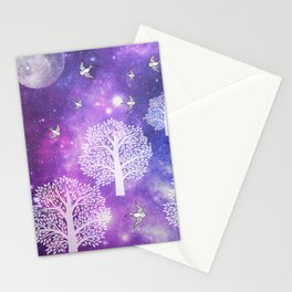 Space Trees Stationery Cards