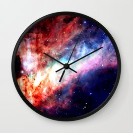 The Omega Nebula Vibrant Wall Clock