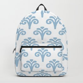 Floral Pattern Pale Blue 241 Backpack