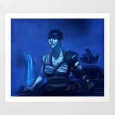Furiosa in Blue Art Print