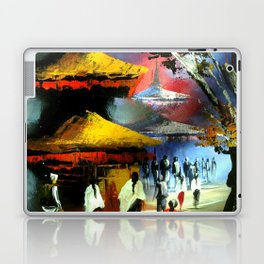 Panoramic Night View Of Nyatapola Temple Laptop & iPad Skin