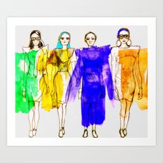 Four Fashionistas Art Print