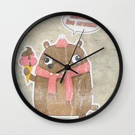 Icecream Bear Wall Clock
