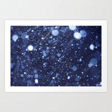 Snow talk 2 Art Print