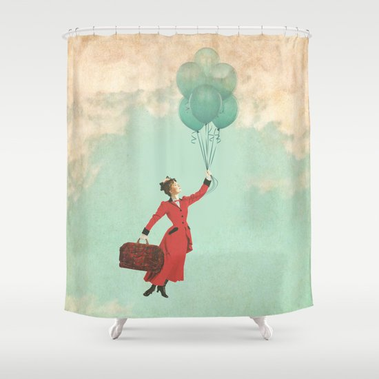 Mary, the secret behind the umbrella Shower Curtain