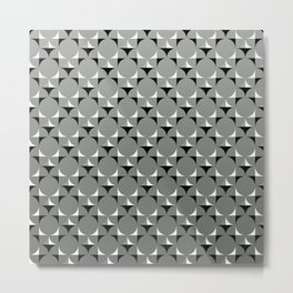 Mod Gray Metal Print