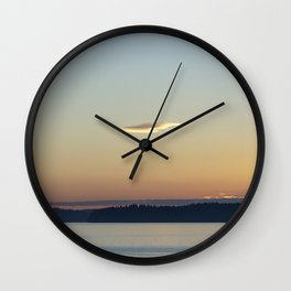 Sunset Cloud Minimalism Wall Clock