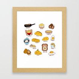 Get eggy with it Framed Art Print