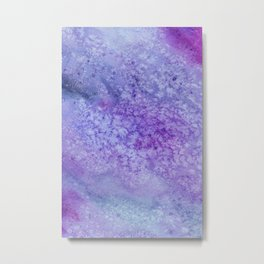 Winter Frost Blue And Purple Watercolor Metal Print