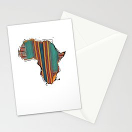 Striped Africa Stationery Cards