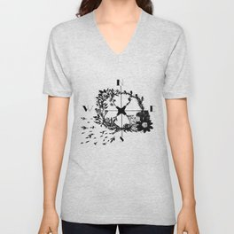 Compass Rose Garden Unisex V-Neck