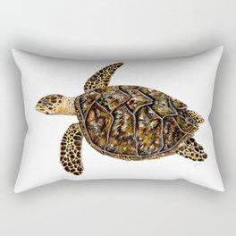 Hawksbill sea turtle (Eretmochelys imbricata) Rectangular Pillow